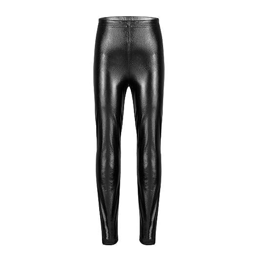 26975028c8380 Freebily Little Girls' Metallic Shiny Stretch Leggings Pants Fancy Party  Dancing Costumes: Amazon.co.uk: Clothing