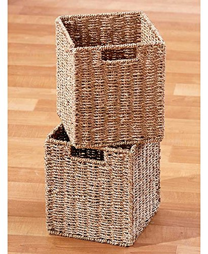 Classic Look Traditional Shelving Cabinets or Baskets Beadboard Detailing MDF (Set of 2 Small Baskets) by Matts Global