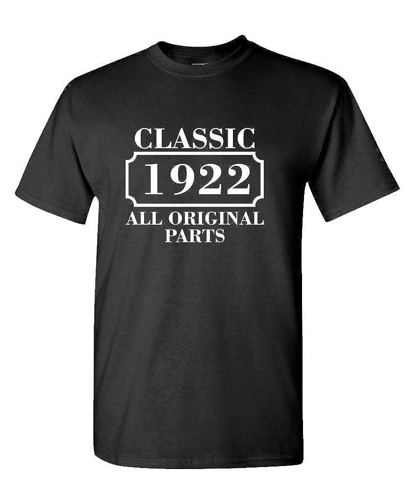 Mens Cotton Birthday T-Shirt CLASSIC 1922 ALL ORIGINAL PARTS