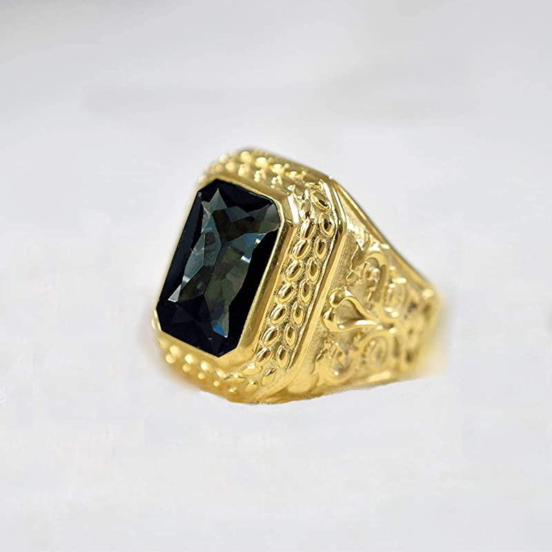 0.12 Ct Round Cut Blue Sapphire Band Ring 0.925 Sterling Silver