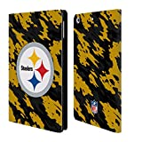 Official NFL Camou Pittsburgh Steelers Logo Leather Book Wallet Case Cover For Apple iPad mini 4