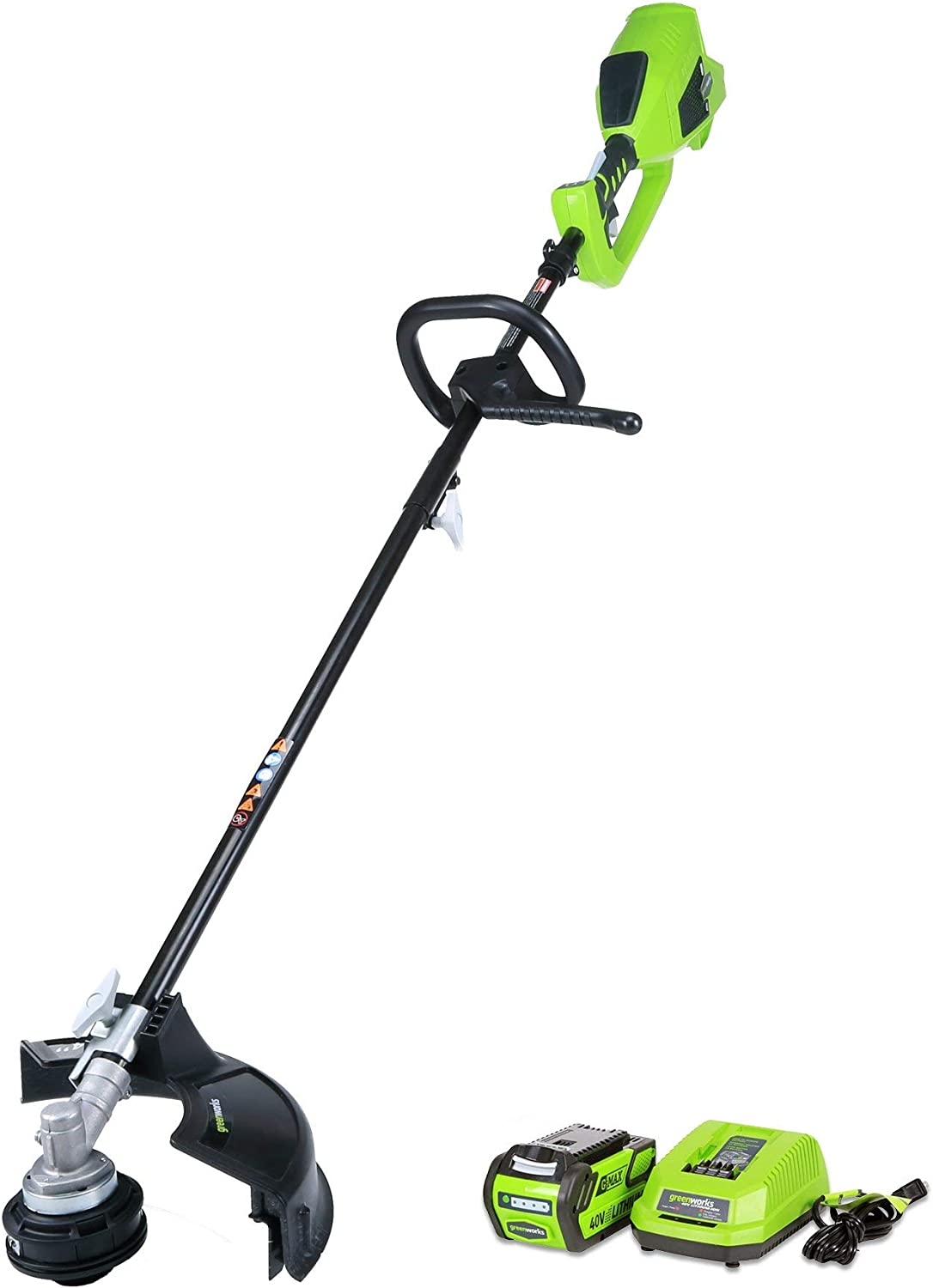 Greenworks 14-Inch 40V Cordless String Trimmer Attachment Capable , 4.0 AH Battery Included 21362 Renewed