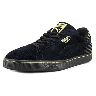 Puma Men's Suede Metallic Fade Fashion Sneakers: