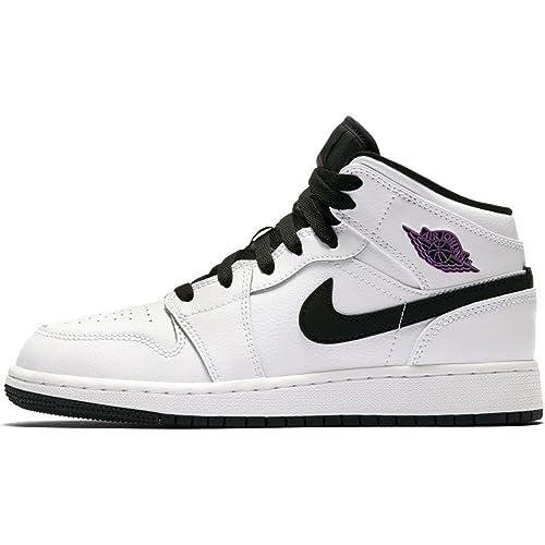 Zapatillas Jordan - Air Jordan 1 Mid GG Blanco/Fucsia/Negro Talla: 38: Amazon.es: Zapatos y complementos