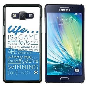 LECELL--Funda protectora / Cubierta / Piel For Samsung Galaxy A5 A5000 -- La vida es un juego --