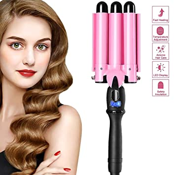 Best Curling Iron 2020.2019upgrated Version Hair Curling Iron 3 Barrel Hair Curler Waver With Lcd Temp Display Fast Heating Triple Barrel Hair Curling Iron Tourmaline