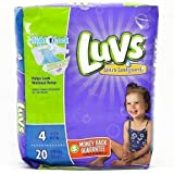 Health & Personal Care : LUVS DIAPER SIZE 4 20 ct