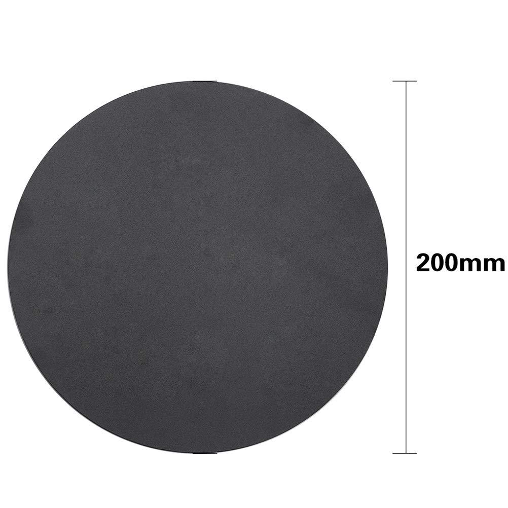 200mm Black Hemobllo 1 Set Magnetic Print Bed Tape Round Bubble Free Flexible Print Sticker Build Plate Tape Plate DIY 3D Printer Parts