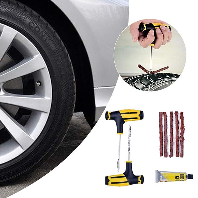 Kit de reparación de neumáticos,Herramienta de reparación de neumáticos sin cámara para Motocicletas de Camiones: Amazon.es: Coche y moto