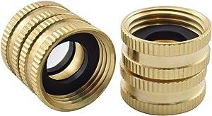 SDTC Tech 2-Pack Brass Garden Hose to Hose Fitting Adapter GHT 3/4