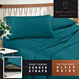 Premium Queen Size Sheets Set - Teal Turquoise Hotel Luxury 4-Piece Bed Set, Extra Deep Pocket Special Super Fit Fitted Sheet, Best Quality Microfiber Linen Soft & Durable Design + Better Sleep Guide