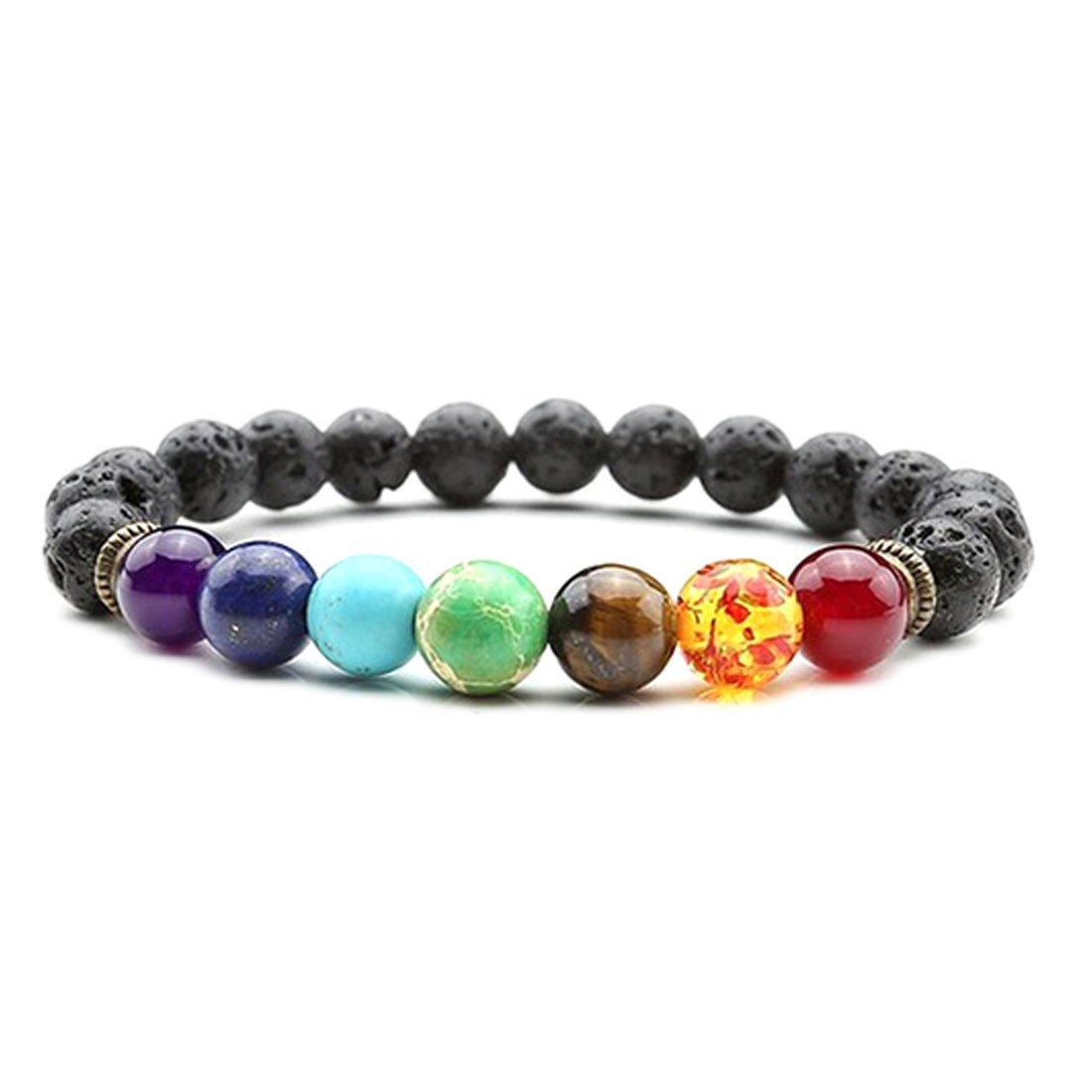 7 Chakra Healing Lava Bracelet Free Ship Deal