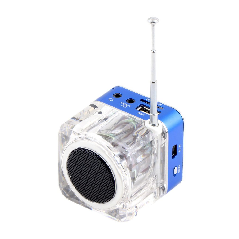 Novelty Bedside Radio Multi-Function Gadget Mini Music Player Transparent Classic Style Suit for Travel Camping Picnic Relax in the garden Outdoor Activities etc. Best Gift L7e4 by MOJIWING (Image #5)