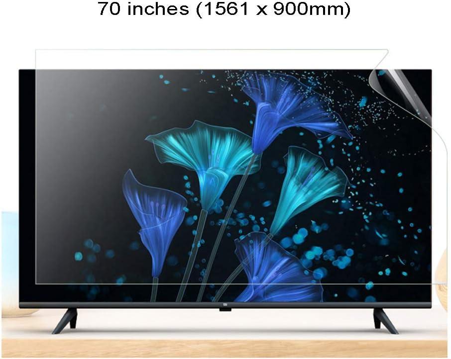 WTTO 70 Pulgadas Protector De Pantalla De TV, TV Protección de Pantalla Antiazul Antideslumbrante Filtro Alivia La Fatiga Ocular para HDTV LCD/LED/OLED Y QLED,Ultra-Clear: Amazon.es: Hogar