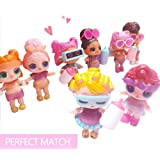 allisi 8 Dolls-The Doll of Serie 3 for The LOL Surprise Doll Accessories( 8 Pack)