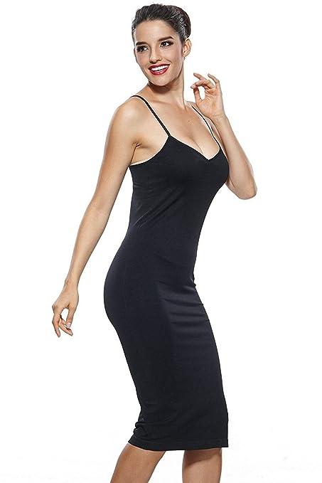 79cd94780ba75b Clothing, Shoes & Jewelry KHAYA Womens Seamless Long Slip Dress Spaghetti  Strap Full Slip KA7673
