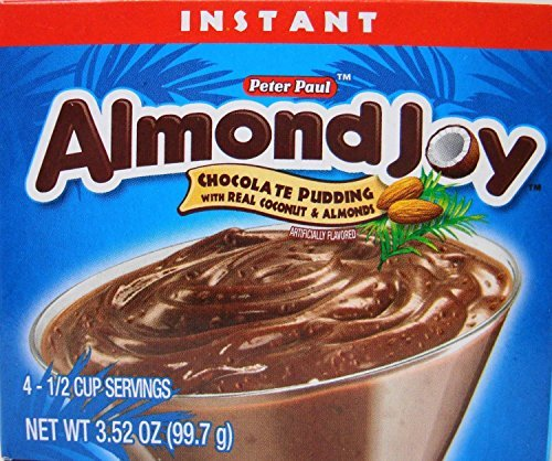 Peter Paul Almond Joy Instant Chocolate Pudding Mix 3.52 Ounces (Pack of 6) by Almond Joy (Image #1)
