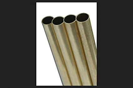 KS Metal Round Tube 9 16quot D X 12quot L Brass Carded