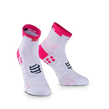 Compressport Calcetines ProRacing V3.0 Run Hi Ironman 2017 Rosa - T3