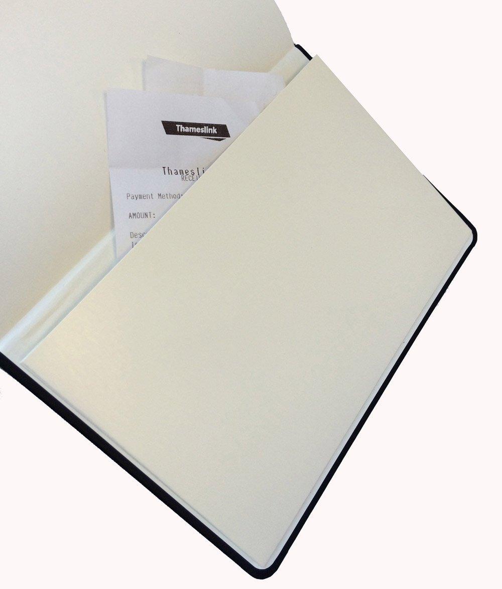 Libreta encuadernada A4 de tapa dura tapa negra 240/p/áginas de 80/g//m/² con rayas Collins
