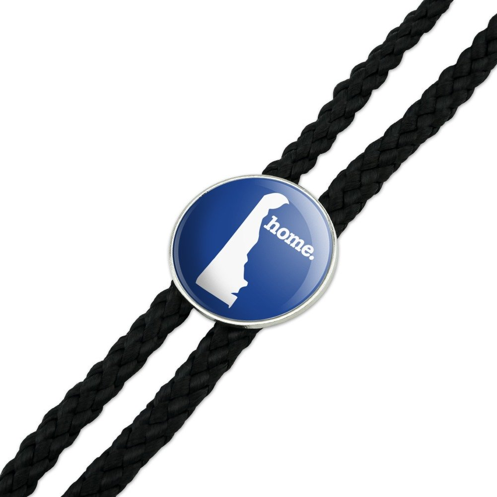 Delaware DE Home State Solid Navy Blue Officially Licensed Western Southwest Cowboy Necktie Bow Bolo Tie