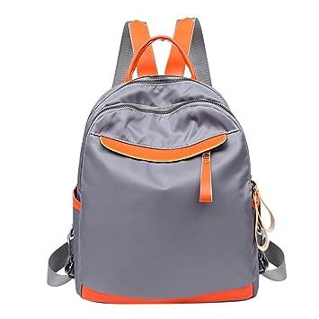 Widewing Travistar Bolsos Mochilas Mujer Casual Las mujeres viajan la mochila de nylon impermeable ocasional de la escuela del hombro de la mochila / gris: ...