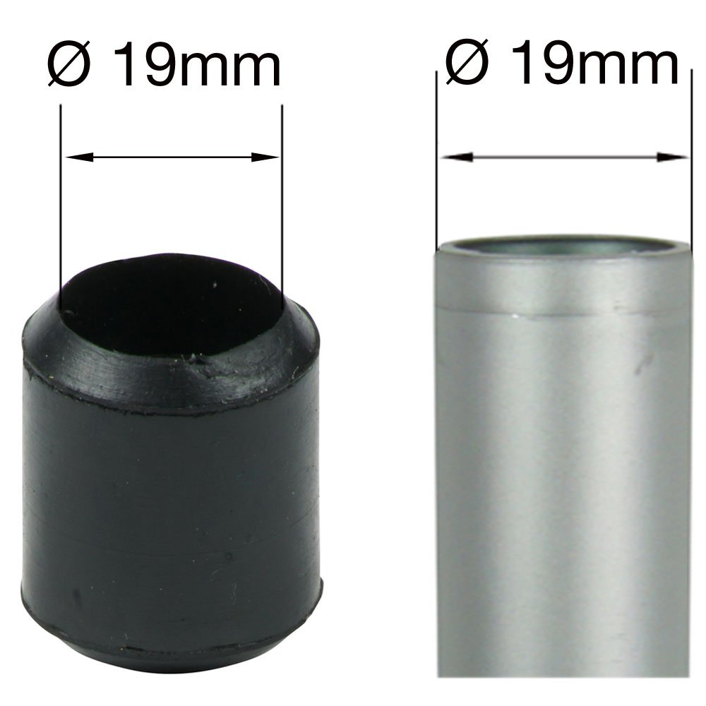 verschiedene Gr/ö/ßen Lifeswonderful/® Schutzkappen f/ür M/öbel 100 St/ück 12 mm aus Gummi
