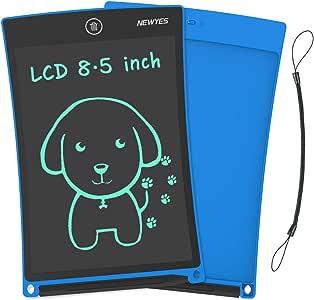 """NEWYES 8,5"""" Tableta de Escritura LCD   Tableta gráfica   Tablet para niños   Ideal como Pizarra Digital para Aprender a Leer, Escribir y para Manualidades   Juguete Educativo (Azul)"""