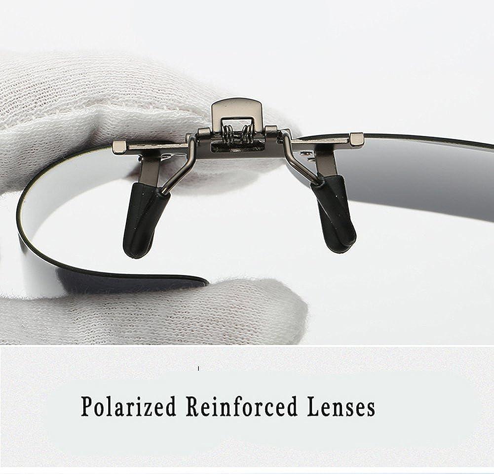 Phaedra FU Polarized Clip-on Sunglasses Over Prescription glasses For Driving Fishing