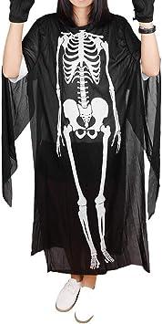 Chenqi Disfraz de Fantasma de Halloween Esqueleto Ropa para ...