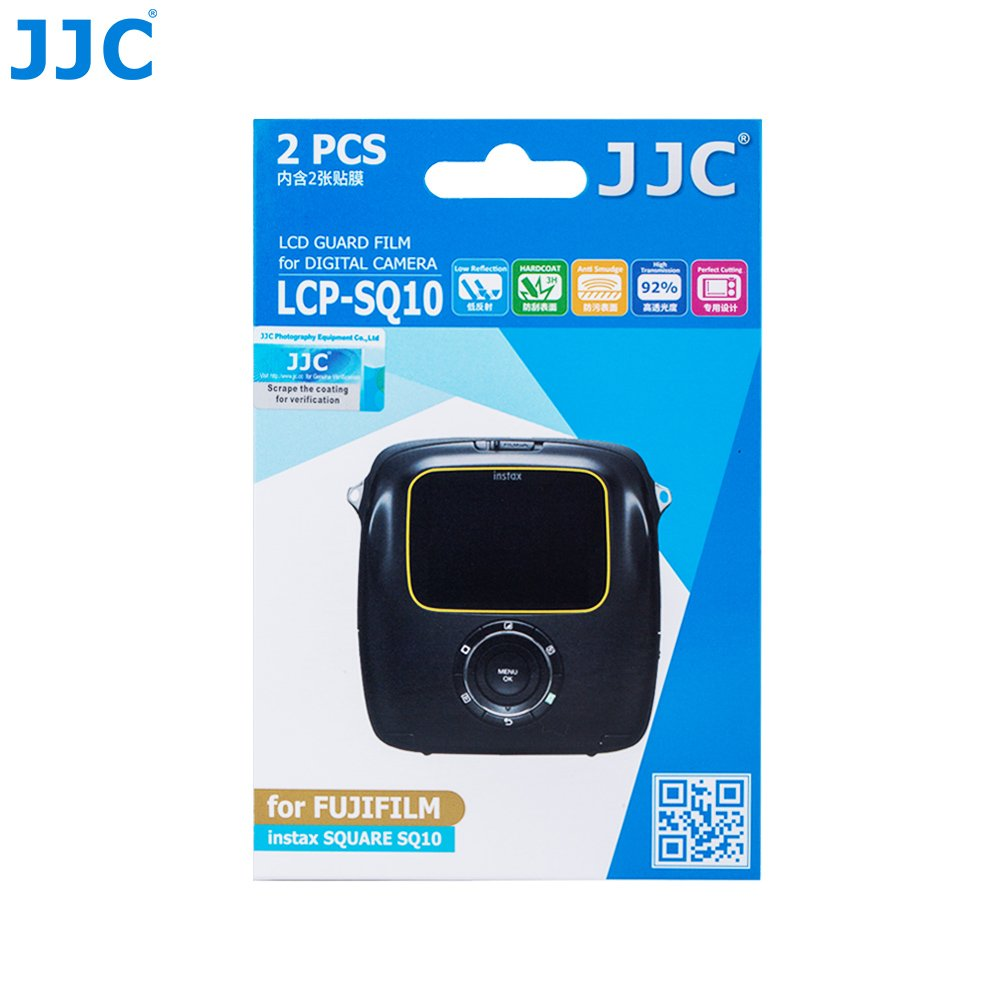 JJC 2PCS PET Film Screen Protector for Fujifilm Instax Square SQ10 Camera JJC Photography Equipment Co. Ltd. 4331965068