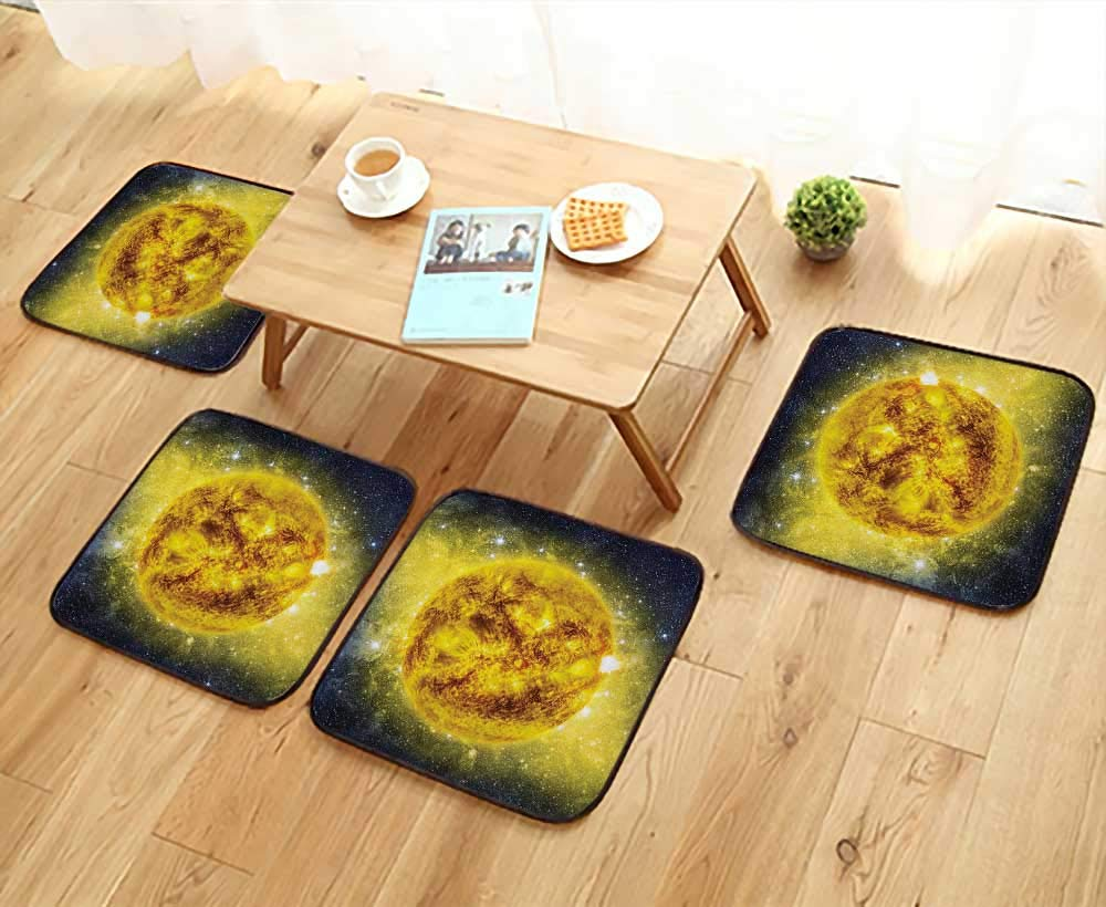 Printsonne Home Chair Set Panorama of Sun in Space with Luminous Effects Dynamic Center of Solar System Machine-Washable W21.5 x L21.5/4PCS Set