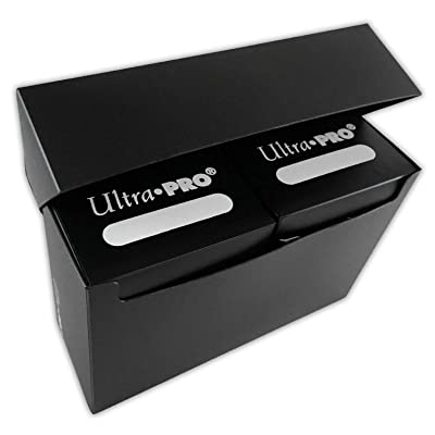 Ultra Pro 3-Compartment Over Sized Black Deck Box, Fits 2 Deck Boxes, 1-Count: Toys & Games