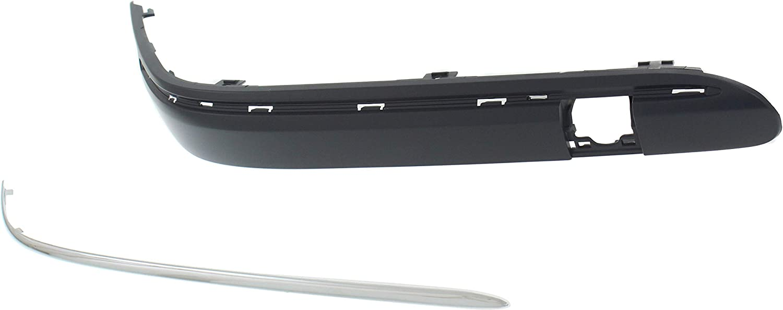Garage-Pro Front Bumper Trim for MINI COOPER 2002-2004 LH Outer Cover Plastic Chrome Base Model