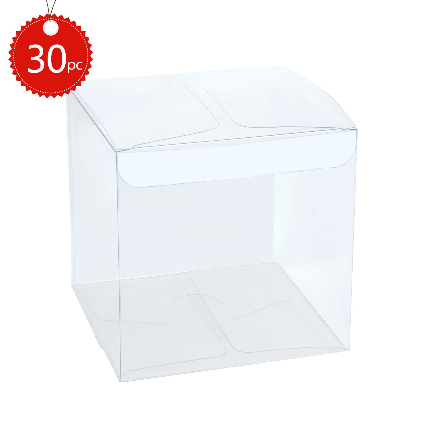 Amazon.com: ClearBags Clear Gift Boxes | Clear PET Plastic Boxes for ...