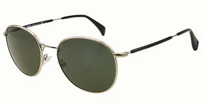 Giorgio Armani 841/S Mens Semi-Oval Full Rim Designer Sunglasses - Light Gold/Green/Size 51/19-145