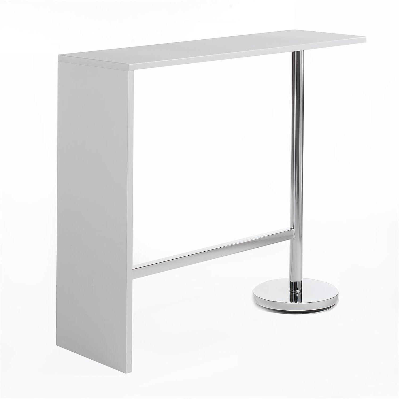 Ricardo Bar Table Bistro Table Bar Kitchen Bar Table in White ...