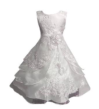 Kostor Mädchen Prinzessin Kleid Blumenmädchen Kleid Kinder Hochzeit ...