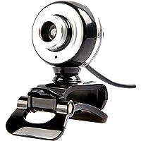 MagiDeal USB Webcam HD 12 megapíxeles Soporte Giratorio con Micrófono para PC de Escritorio para Ordenador de Alta Calida