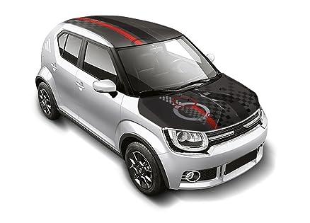 Autographix Maruti Ignis Car Roof Wrap   Bonnet Wrap Combo   Checkmate