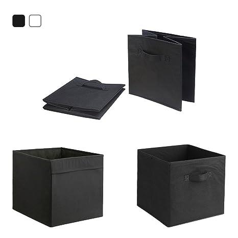 Cajas de almacenamiento, paquete de 4 cubos de tela plegables para niños, dormitorio,