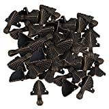 Mxfans 50 x Corner Decorative Antique Brass Metal Corner for Chest Jewelry Gift Boxes