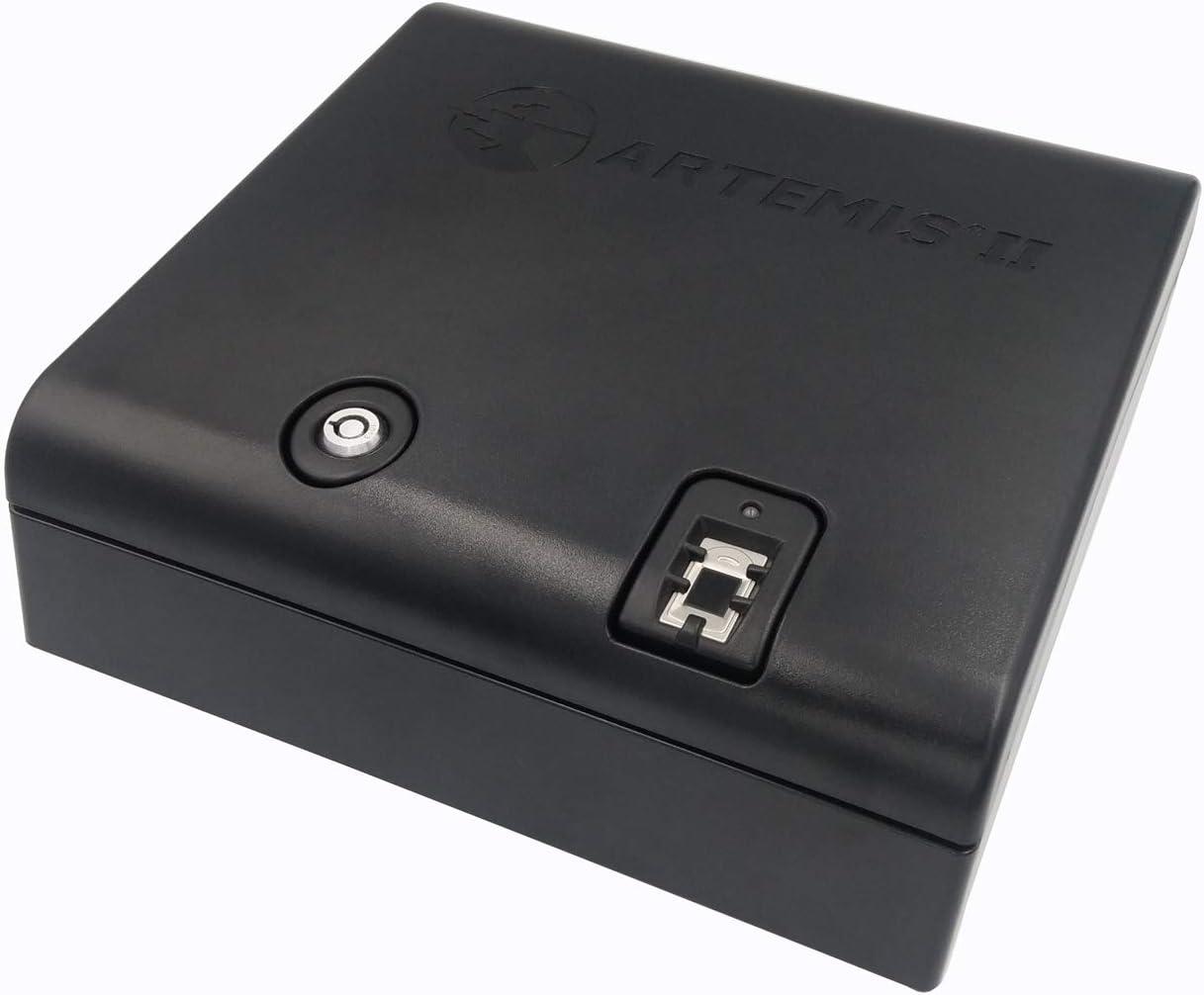 Artemis Biometric Handgun Safe Pistol Safe mit Auto-Open Lid Fast Finger Print Access Child Resistant Case