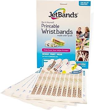 Jetbands Diy Inkjet Printable Tyvek Wristbands 100 Count