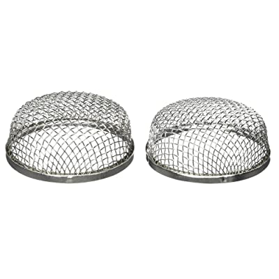 ALEKO RVS003 Stainless Steel RV Vent Screen for Bugs Birds Rodent Protection 2.8 x 1.2 Inches Lot of 2: Automotive