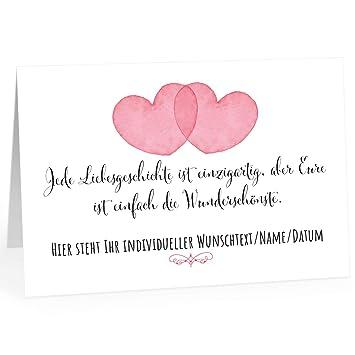 Große Glückwunschkarte Zur Hochzeit Xxl A4 Personalisiert 2 Herzen Mit Umschlagedle Design Klappkartehochzeitskarteglückwunschehepaarextra