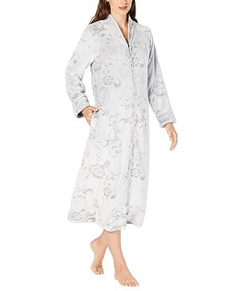 b35adb0083 Charter Club Womens Scroll-Patterned Long Zip Robe at Amazon Women s ...