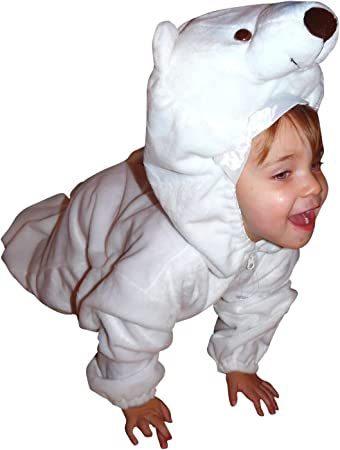 Costume ORSO POLARE PELUCHE Overall Tuta Orso Polare Costume ORSO Bambini Donna Uomo