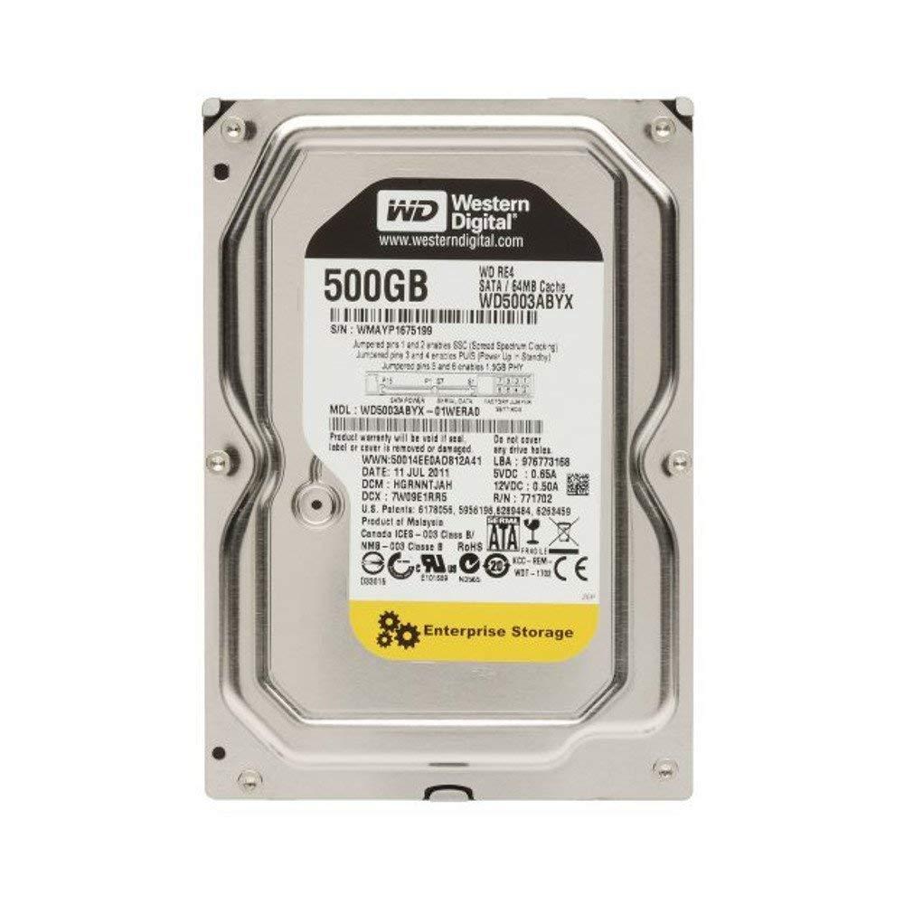 Western Digital 500GB RE4 Enterprise Desktop 3.5in SATA 7200rpm Hard Drive - OEM (Renewed)
