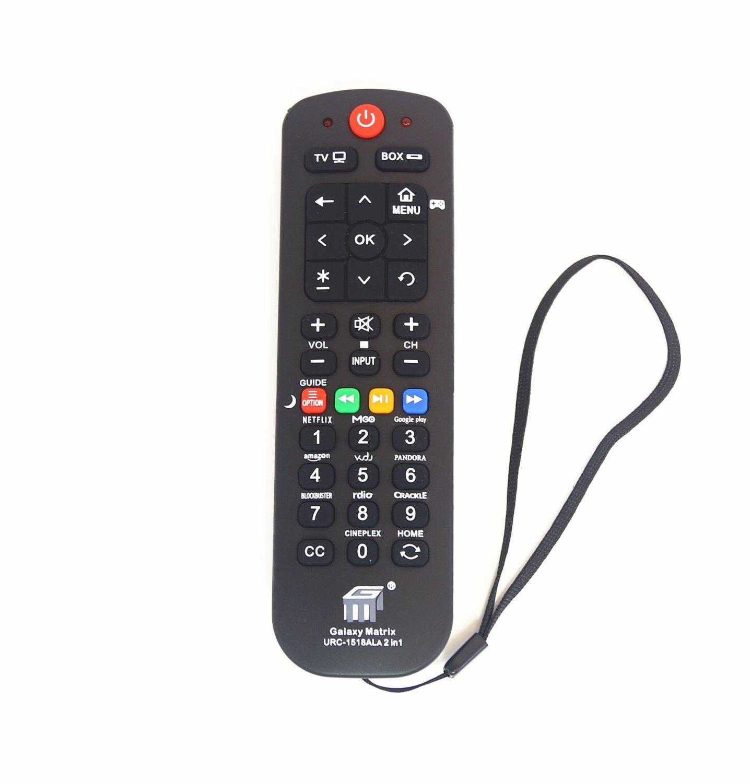 Brainly Universal Streaming Remote Work (2 in 1) for Main TV Main Streaming Box, Roku 1 2 3, Apple Tv, Vizio Smart TV,(URC1518)